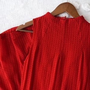 Anthropologie Deletta Fit and Flare Red Mini Dress